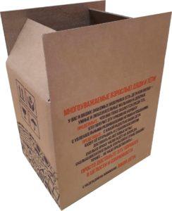 короб четырехклапанный из 3-слойногор картона